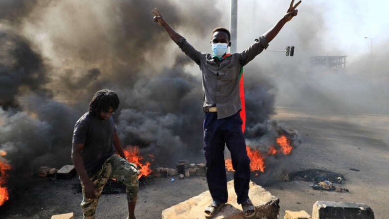 Seven protesters shot dead during Sudan military coup as world leaders urge army to pull back
