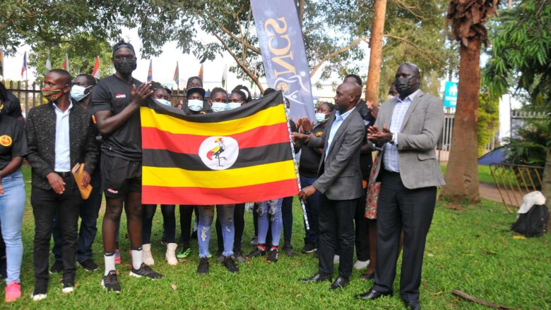 UGANDA RUGBY TEAM  FLAGGED OFF FOR RUGBY COMPETITIONS IN KENYA .