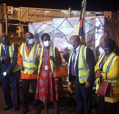 A total of 196,800 doses of Johnson and Johnson vaccine procured with funding from Government of Uganda has arrived into the country. The consignment was officially received by the Permanent Secretary,