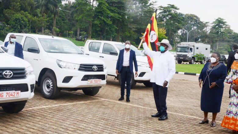 I have flagged off 282 pickup trucks for COVID-19 surveillance across the country.