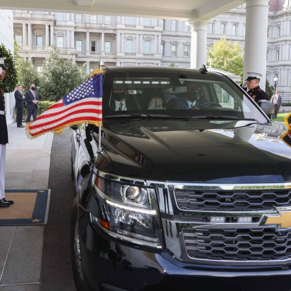 President Uhuru Kenyatta is received at the The White House in Washington DC by his American counterpart, His Excellency President Joseph R. Biden, Jr.
