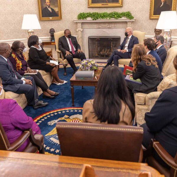 Trade, Covid-19 and climate change top agenda as President Kenyatta meets US counterpart Joe Biden in Washington DC