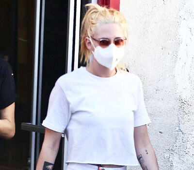 Kristen Stewart Rocks White Shorts &Cropped Shirt While Out With GF DylanMeyer — Photos